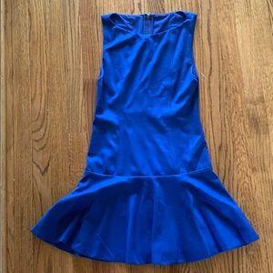 Alice and Olivia blue drop waist dress. Size 4.